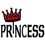 Princess With 2-Color Crown