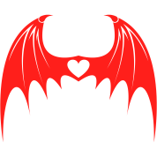 Bat Wings with Love