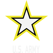 U.S. Army Star military logo in 3 Colors