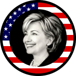 Hillary Clinton : us flag