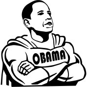 SUPEROBAMA BARACK OBAMA Vector