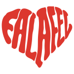 Falafel Love Heart
