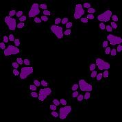 Paw Print Heart pawprint dog, cat