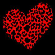 Red Cheetah Heart