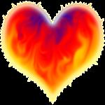 Fiery Heart Glowing More
