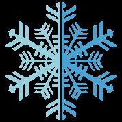 2 Color Winter Snowflake