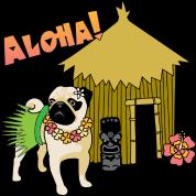 Aloha Hawaiian Pug