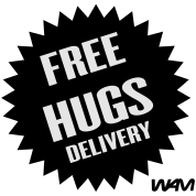 free hugs delivery by wam