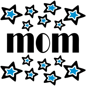 Mom With Double Stars And Cutouts
