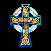Big Blue Celtic Cross