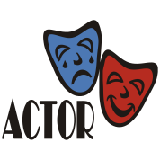 Actor With Comedy Tragedy Masks