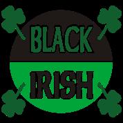 Black Irish With Circle And Shamrocks