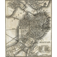 Design ~ Boston Map from 1842