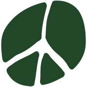 Unusual Peace Symbol In Silhouette