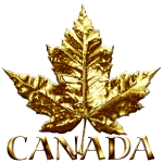 Gold Canada Maple Leaf Souvenirs
