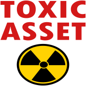Toxic Asset With Hazardous Waste Symbol