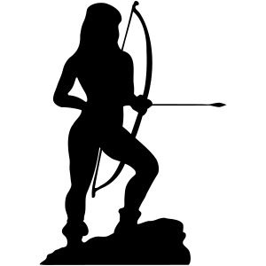 Amazon Woman with bow and arrow