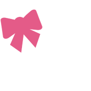 Pink Bow w/ White Pearls