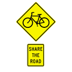 Share The Road (Yellow)