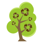 Recycle Tree Green
