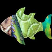 collage art FISH (greens)
