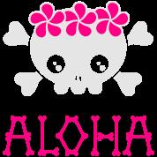 Gladditudes Aloha skull (dark shirts)