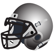 silver football helmet