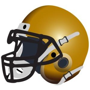 gold football helmet