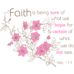 Faith (pink & brown)