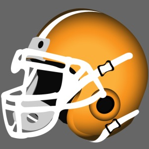 orange football helmet