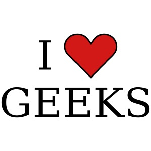 I heart geeks (black)