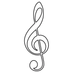 Open Treble Clef