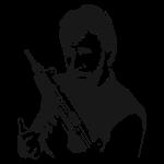 Chuck Norris avec son flingue