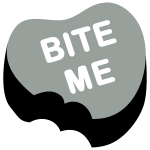 Bite Me Candy Heart