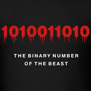 The Binary Number of the Beast - Men's T-Shirt