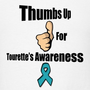 Thumbs Up for Tourette's Awareness! Men's T-Shirt - Men's T-Shirt