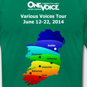 Various Voices Irealnd Gala TSHIRT Design - Men's T-Shirt by American Apparel