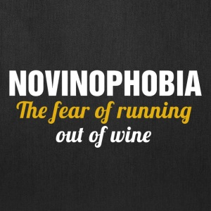novinophobia the fear of running out of wine - Tote Bag