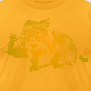 Cuddly But Muscular Wombat T-Shirts - Men's T-Shirt by American Apparel