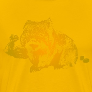 Cuddly But Muscular Wombat T-Shirts - Men's Premium T-Shirt