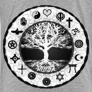 Tree of Life Unity Featuring all Religions  - Kids' Premium T-Shirt