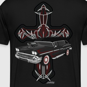 Hearse and Cross - Men's Premium T-Shirt