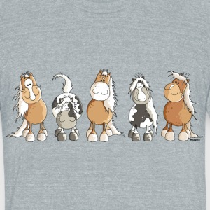 Funny Horses - Horse T-Shirts - Unisex Tri-Blend T-Shirt by American Apparel