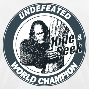 Hide and Seek World Champion (Bigfoot) - Men's T-Shirt by American Apparel