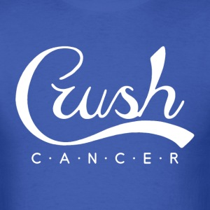 Crush Cancer White T-Shirts - Men's T-Shirt