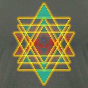 sacred shapes geometry - Men's T-Shirt by American Apparel