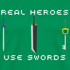 Real Heroes Use Swords - Men's Premium T-Shirt
