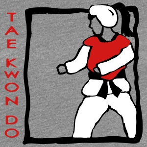 TKD Sparring Girl - Women's Premium T-Shirt