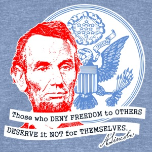 Abraham Lincoln T-Shirts - Unisex Tri-Blend T-Shirt by American Apparel