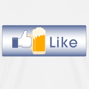 Like Beer facebook parody t-shirt - Men's Premium T-Shirt